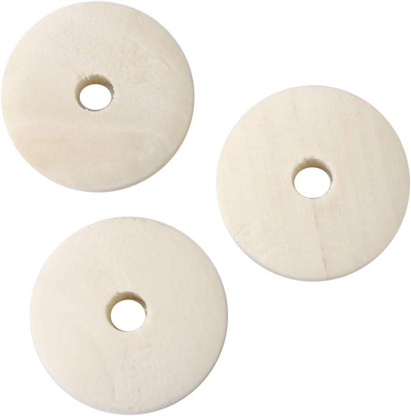 Pack Von 20 Runde Perlen aus Holz 14mm Grün Anis