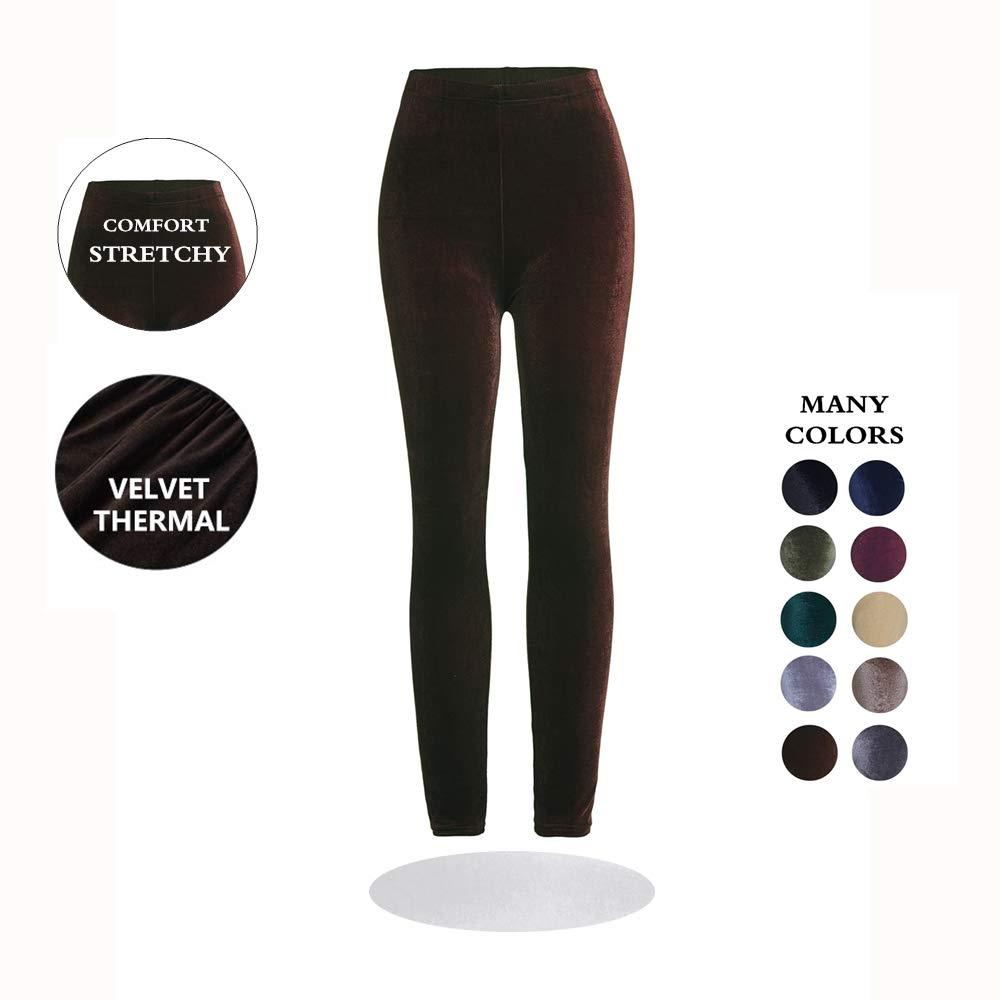 VooVeeYA Winter Leggings for Women Thermal Full-Length Velvet Leggings | 10 Colors | One Size & Plus Size