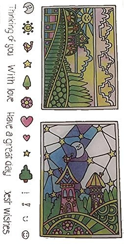 (Hampton Art Color Me Clear Stamps ~ Sun & Moon)