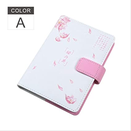 YNIME Cuaderno A6 Cherry Blossom Print Planner Focus Bullet ...