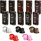 Gimoka 100 pack Coffee Capsule Compatible with the Nespresso OriginaLine Machine Variety pack
