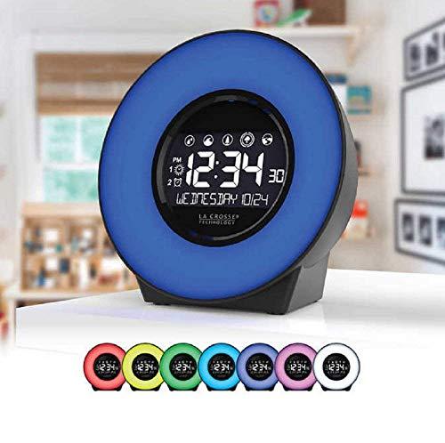 Price comparison product image La Crosse 7 Color Mood Light LCD Alarm Clock with Nature Sounds