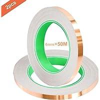 QitinDasen 50M X 6mm Premium Cobre Lámina Cinta