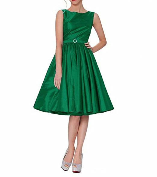 Leader of the Beauty Classy Audrey Hepburn Style Vintage Classic Prom Dress Emerald UK 12