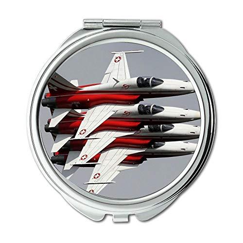 Yanteng Wallpaper Jet Fighter,Mirror,Compact Mirror,tie Fighter Model,Pocket Mirror,Portable Mirror