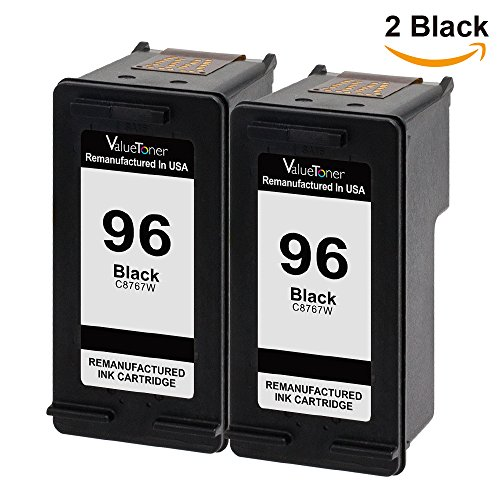 Valuetoner Remanufactured Ink Cartridge Replacement For Hewlett Packard HP 96 C9348FN C8767WN (2 Black) 2 Pack