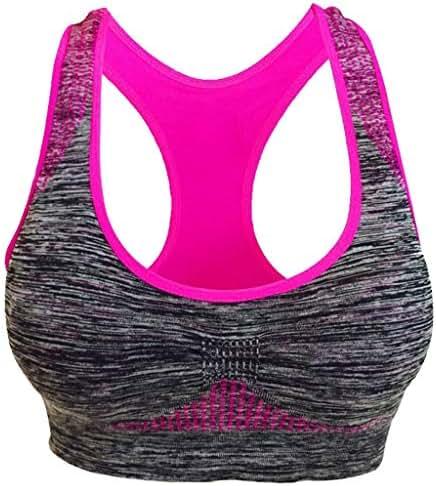 Yoyorule Ladies Fashion Underwear Women Seamless Sports Bra High Impact Pocket Yoga Bra Zero-Binding Underwear