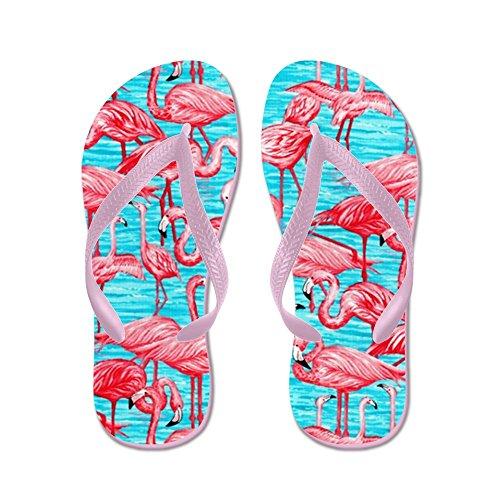 Flamingo Cafepress - Infradito, Sandali Infradito Divertenti, Sandali Da Spiaggia Rosa