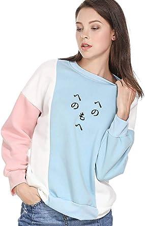 VIK Women Hoodies Kawaii Cartoon Et Alien Girls Letter Pullover Sweatshirts