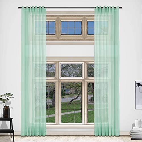 cololeaf Extra Long and Wide Sheer Voile Curtains Room Divider Grommet Wide Curtain Large Size
