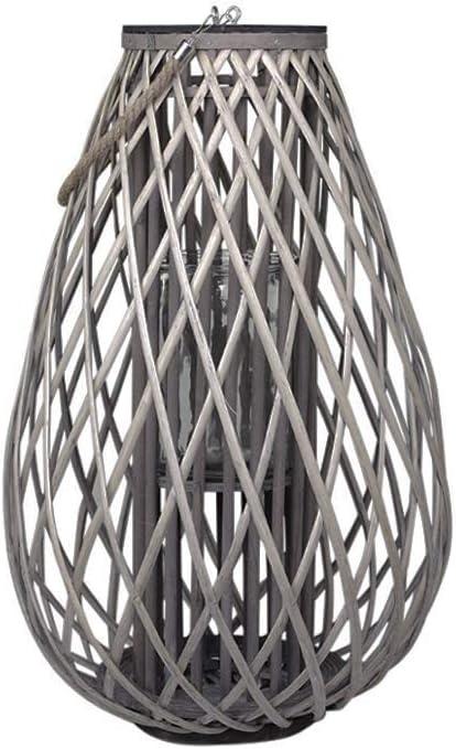 Lanterne en treillis naturelle 70 x 45 cm Chic Antique Franz