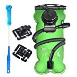 Tagvo Hydration Bladder 3 Liter BPA Free ( 3l 100oz), Leakproof Water Reservoir Large Opening for Ice Cube Filling & Easy Cleaning, Odorless Bag with Insulated Tube & High Flow Locking Bite MouthPiece