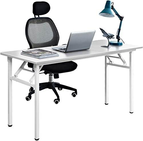 SogesPower Computer Desk Office Desk Home Office Desk Folding Table 55 inches Large Writing Desk