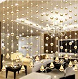 Software : 1Set Luxury Crystal Glass And Stainless Steel Wire Beads Door String Tassel Curtain Wedding Divider Panel Room Home Decor 1 M By Woaills (Gold)
