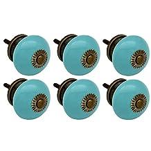 Nicola Spring Ceramic Cupboard Drawer Knobs - Turquoise - Pack Of 6
