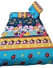 ملايات سرير اطفال تركى 120سم (سريرين) 6 قطع 240سم*200سم (ميكي زيتي)