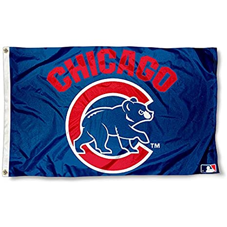 amazon com wincraft mlb chicago cubs flag 3x5 banner sports fan