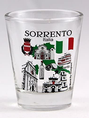 Style In Print Italia Italy Original Country Name Ceramic Shot Glass Cup