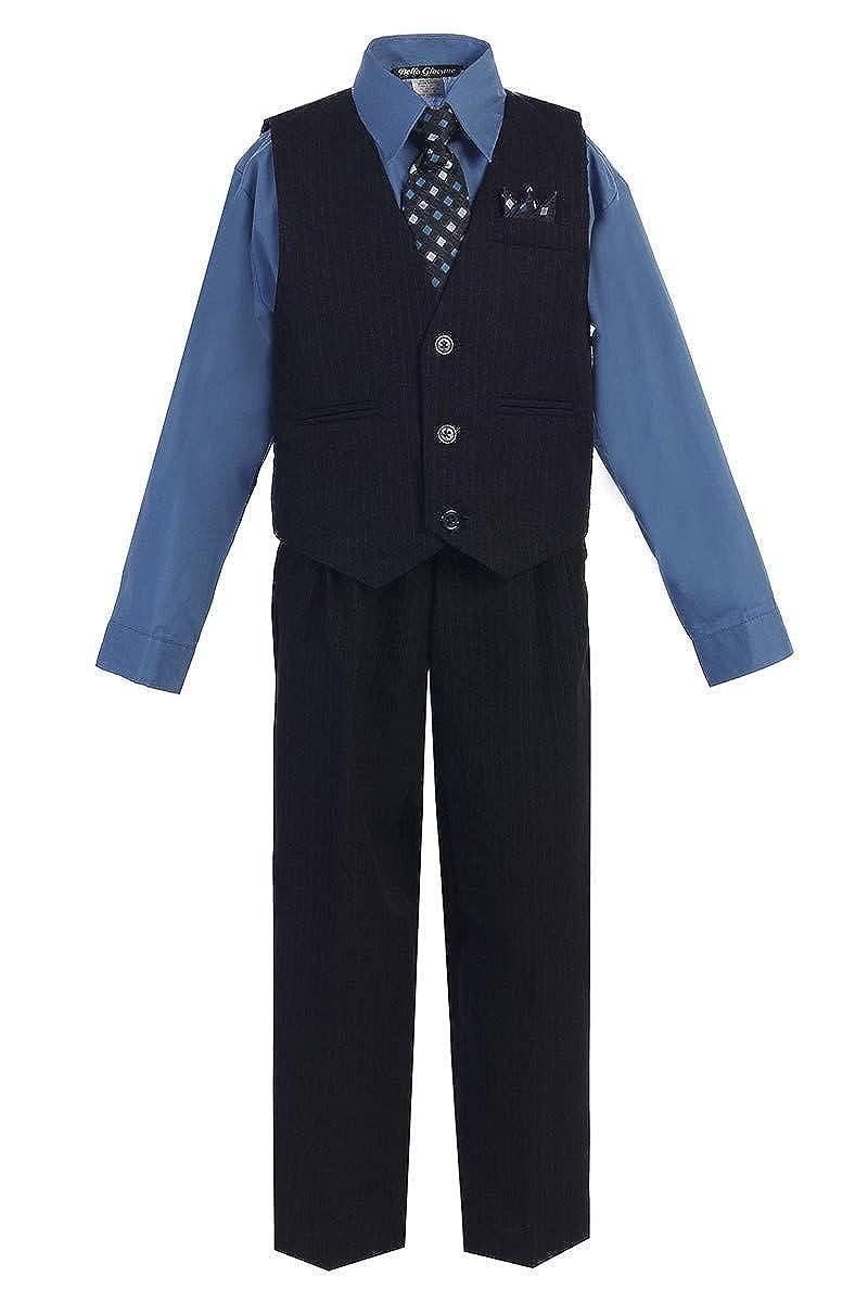 iGirldress Little Boys and Big Boys Special Occasion Pinstripe Vest Set Infant-20
