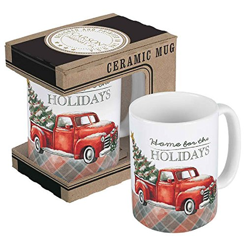 Carson 3.5 Inches Length x 5.25 Inches Width x 5 Inches Height 14 Ounce Home For The Holidays Boxed Mug Drinkware