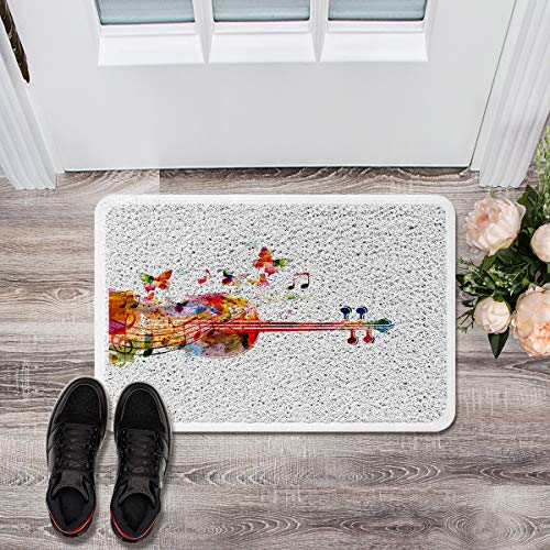 Gsypo Absorbent Doormats for Entrance Way Outdoors- Watercolor Butterfly Cello Durable Welcome Mat for Inside Outside Machine Washable Carpet 18