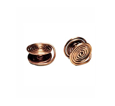 f253b4a3ad2d0 Buy Copper Tone Wire Wrapped Clip-on Pressure Earrings Handmade in ...
