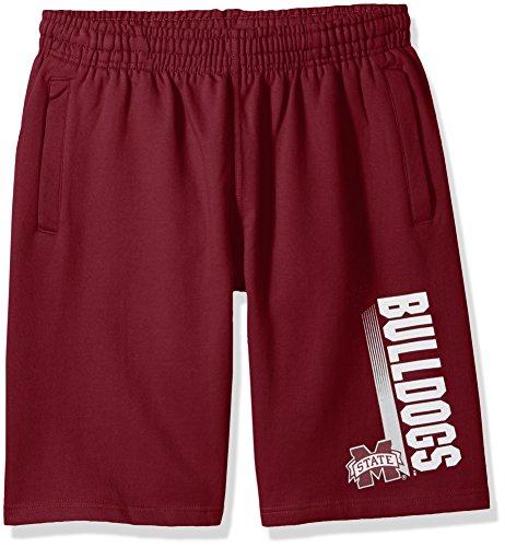 Old Varsity Brand NCAA Mississippi State Bulldogs CVC Fleece Shorts, Maroon, -