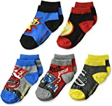 Nickelodeon Little Boys' Blaze and the Monster Machines 5 Pack Shorty, Bright Assorted, fits Sock Size 5-6.5 fits Shoe Size 4-7