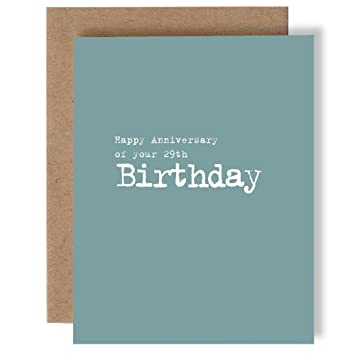 Amazon Happy Anniversary Of Your 29th Birthday Greeting Card