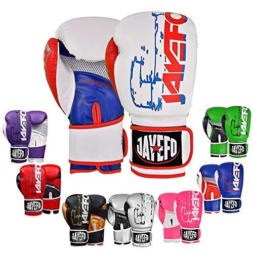 2022 Jayefo Vegan Leather Boxing Gloves for Men & Women Muay Thai Glove Kickboxing MMA Sparring Heavy Punching Bag Mitts…
