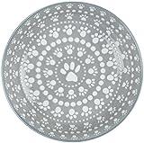 ORE Pet Speckle & Spot Ceramic Shallow Bowl – Santa Fe Gray – 2 cups For Sale