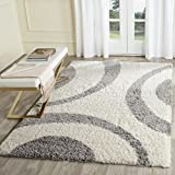 Safavieh Portofino Shag Collection PTS213A Ivory and Grey Area Rug (8′ x 10′) Review