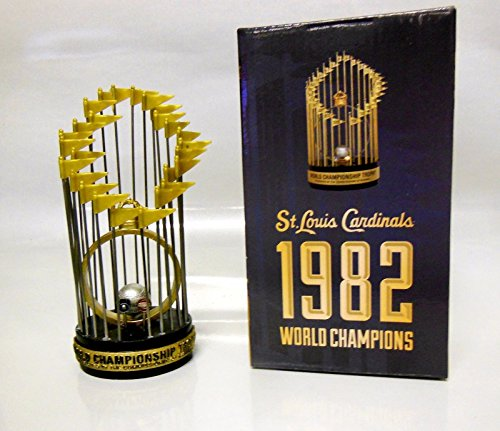 ST LOUIS CARDINALS 1982 WORLD SERIES CHAMPION REPLICA TROPHY SGA 6/30/15 - Ticket Baseball Art Wall