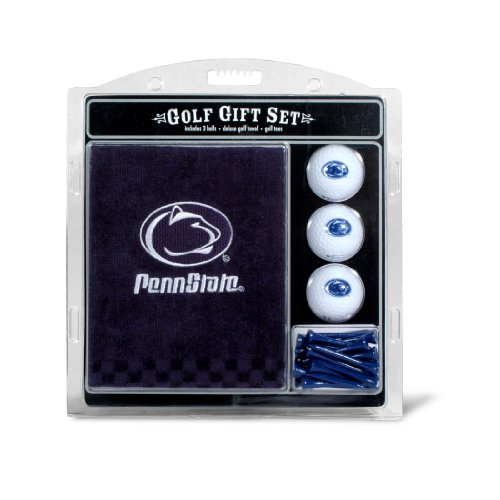 Team Golf NCAA Penn State Nittany Lions Gift Set Embroidered Golf Towel, 3 Golf Balls, and 14 Golf Tees 2-3/4
