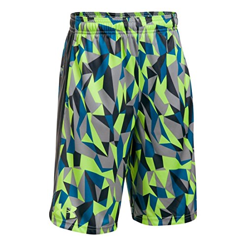 Under Armour Boys Eliminator Printed Short, Lime/Anthracite,