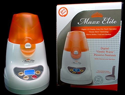 Maxx Elite ''Digital Gentle Warm'' Bottle Warmer & Sterilizer w/''Steady Warm'' and LCD Display (Orange) by Maxx Elite (Image #5)