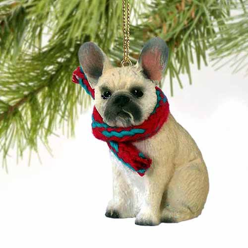 French Bulldog Tiny Miniature One Christmas Ornament Fawn - DELIGHTFUL! by Conversation Concepts - Tiny One Dog Ornament