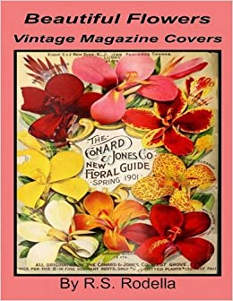 Beautiful Flowers Vintage Magazine Covers Coffee Table Book