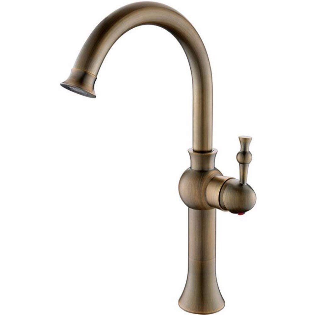 B Oudan Creative hot and cold faucet copper plated shower faucet A (color   C)