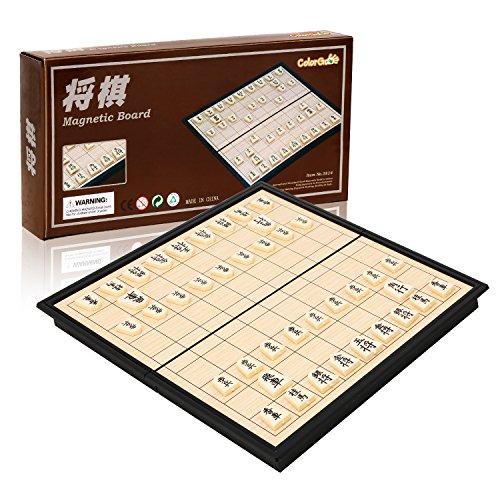 ColorGo 将棋セット 折りたたみ式 将棋盤 マグネット付き駒 コンパクト 旅行 日本将棋 こども 大人向け ボードゲームの商品画像
