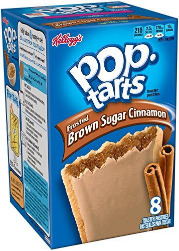 Kellogg's Frosted Brown Sugar Pop Tarts, Cinnamon, 14 oz (package of 2 Boxes)