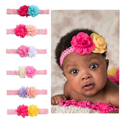 6PCS New Fashion Baby Girls Hair Band Headband Knotted Adjustable - 1
