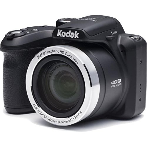 Kodak AZ401BK Point & Shoot Digital Camera with 3″ LCD, Black