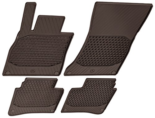 Mercedes-Benz OEM All Weather Season Floor Mats 2014 to 2018 S-Class Sedan (Set of 4) (Color:Brown) - Mercedes Benz S Class Rubber