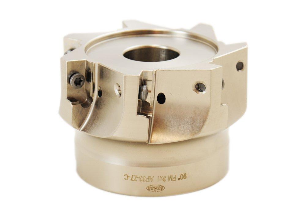 Shars Tool 3'' Cutting Diameter 7 Flute Coolant Thru 90 Degree Face Mill for APKT 1604 Carbide Insert