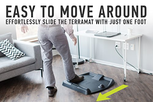 TerraMat Standing Desk Mat - Ergonomic Anti Fatigue Mat for Stand Up Desk and Standing Workstation - Topography Comfort Standing Fidget Mats for Standing Desks by CubeFit by CubeFit (Image #4)