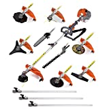 CHIKURA Multi 12 in 1 Multi garden gasoline stimmer Brush Cutter whipper snipper chain saw hedge trimmer