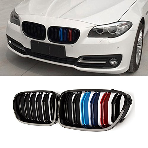 F10 Grille,ABS Front Replacement Kidney Grill for BMW 5 Series F10 Gloss M Color