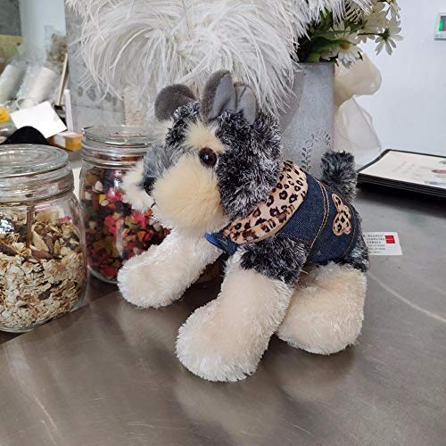MIIA Dog Plush Toy - Cute Plush Toy Small Simulation Dressing Cowboy Schnauzer Dog Puppy Children Gift for - 10 Inch - Cake Bone XL Monkey Aggressive Bulk Red Huge Funny Man Ball Long