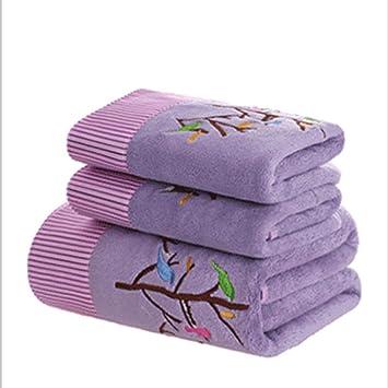 Juego de Toallas de baño, Toalla de baño Bordada 1+ Toalla 2, Toalla de baño de Microfibra,B: Amazon.es: Hogar